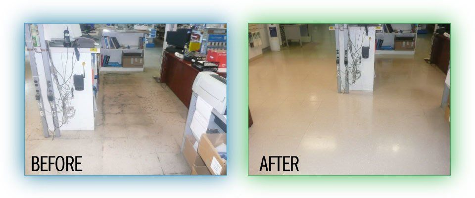 Floor before and after - 2
