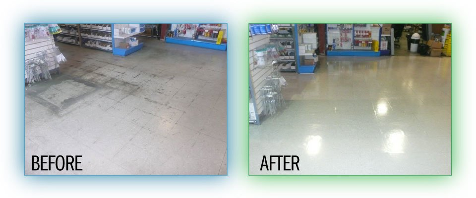 Floor before and after - 1
